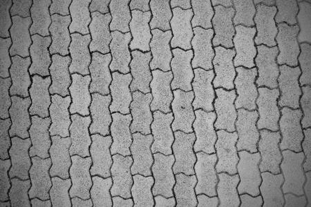 Concrete pavement tiles pattern