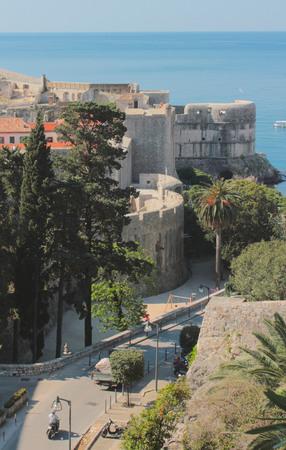 Dubrovnik old city morning scene, Croatia