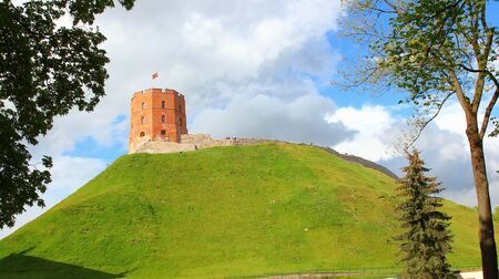 Castle hill with Gediminas tower, Vilnius, Europe