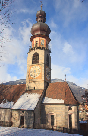 Old christian church of St. Catherine in BruneckBrunico, Italy