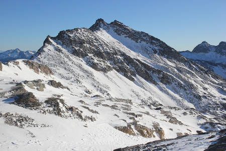 Mount Weißseekopf in winter, Goldberg mountains, Carinthia, Alpe Adria Trail, Austria, central Europe 스톡 콘텐츠