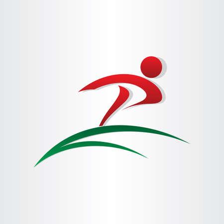 winner running letter p icon