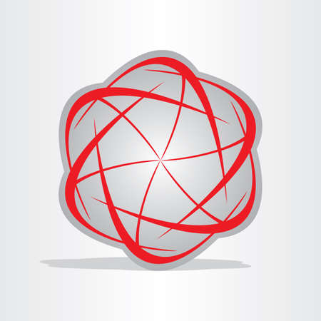 atom energy abstract red symbol design element