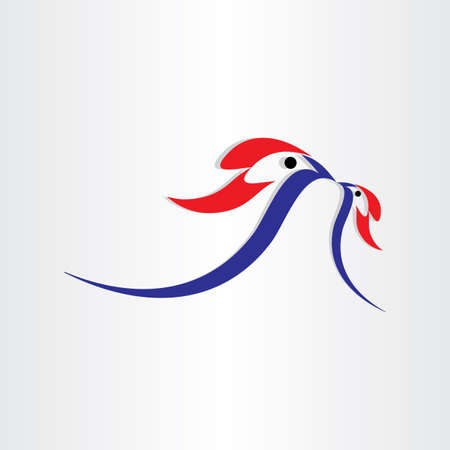 birds feed symbol design abstract mother icon  Vector