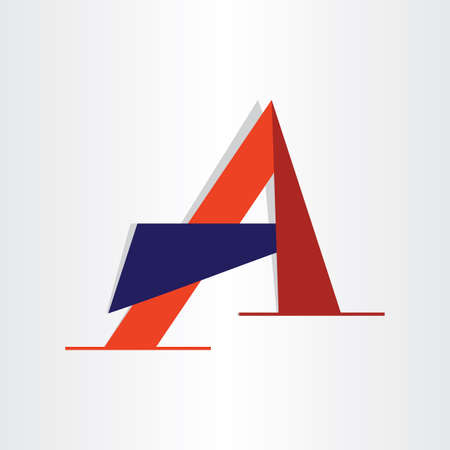 abstract character letter a typography icon design element Vector