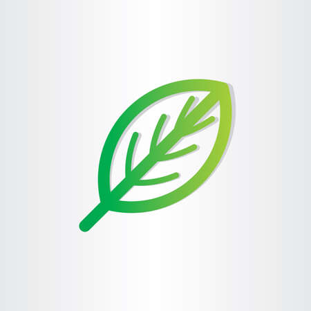 green leaf icon design abstract natural element Vector