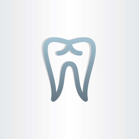 tooth icon dental design abstract stylized symbol Vector