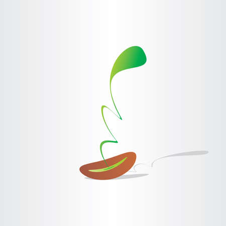 germinating: seed germination abstract plant birth growth eco design element