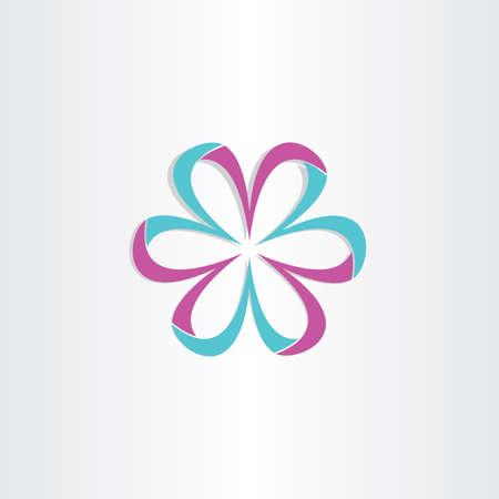 3d flower: 3d flower symbol design valentine card label