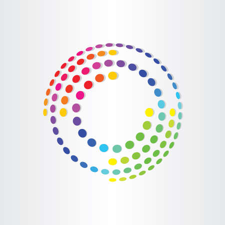 abstract color background with circles and ellipses dot background