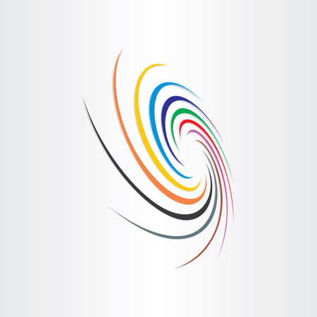 抽象 spyral 色竜巻背景虹速カラフルな科学線震源