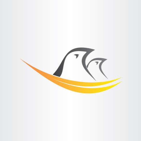 nest egg: birds in nest stylized icon abstract easter symbol animal