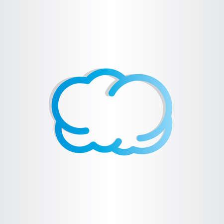 meteorology: blue cloud icon design weather sign meteorology Illustration