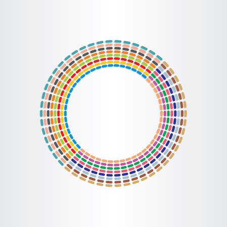 color circle abstract background design with lines spectrum