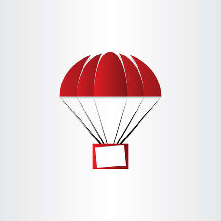 message box: parachute with message box airmail letter event image