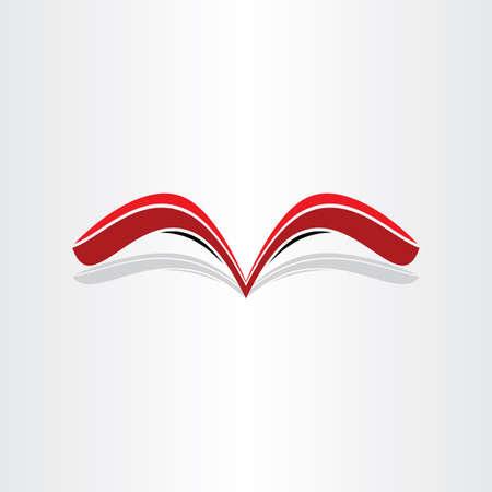 stylized design: libro rosso astratto messaggio disegno stilizzato biblioteca lettre libreria documento della lettura della nota