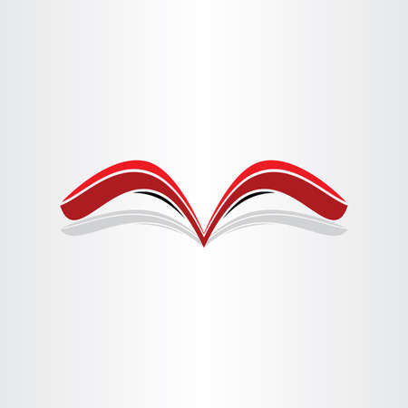 red book abstract stylized design message library lettre reading bookstore paper note Illustration