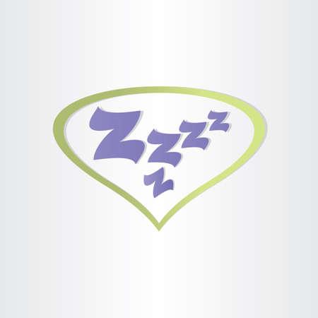 ボックス文字 zzz 寝て疲れて夢を睡眠します。