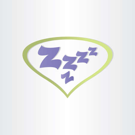 iconillustration: sleep box letters zzz sleeping dream tired