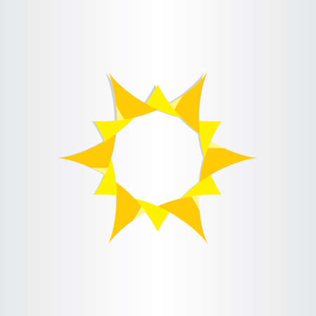 radiance: yellow sun sunshine icon background vector design summer ray radiance science