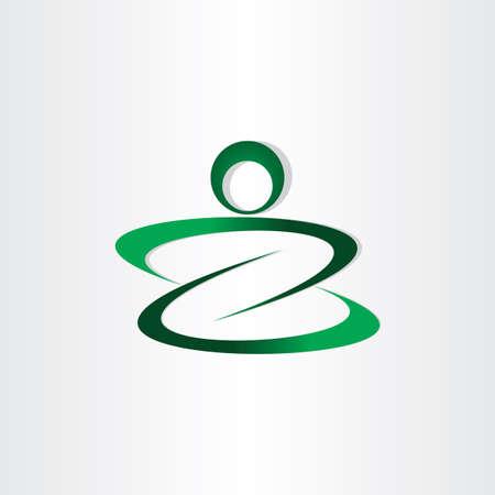stylized design: disegno icona lettera z forma uomo stilizzato Vettoriali