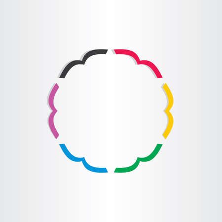 office books in circle icon colourful bookshop emblem Vector