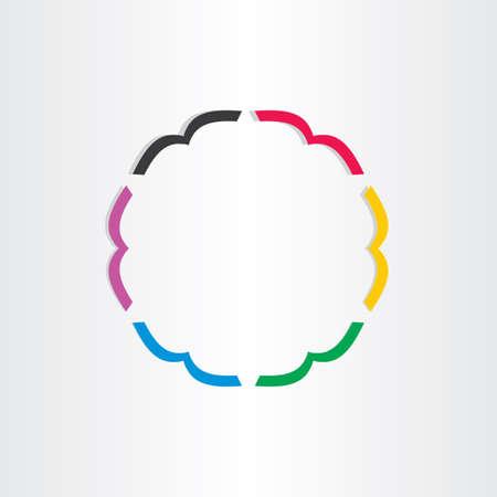 bookshop: office books in circle icon colourful bookshop emblem Illustration