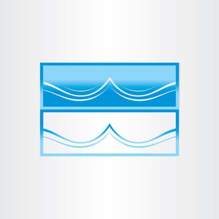 vague ocean: la forme d'onde la mer de l'oc�an conception abstraite de l'ic�ne