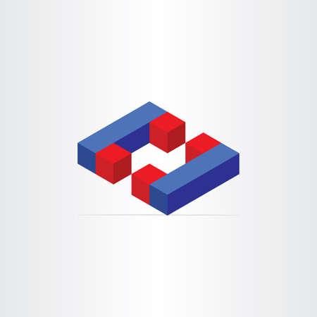 3d magnets letter c icon design element
