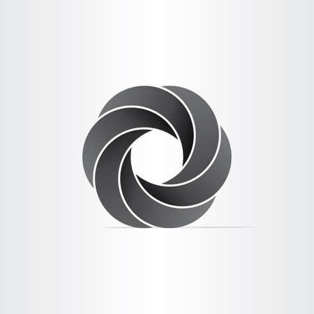 infinite shape: abstract black impossible symbol design element