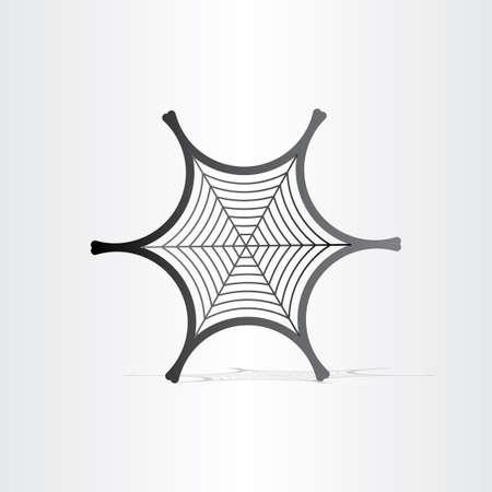 black spider web symbol abstract design element