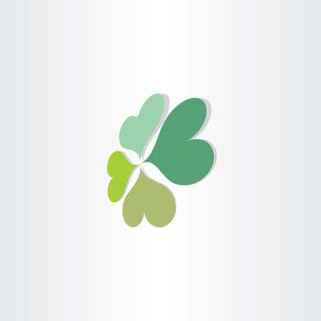 four leafs clover: cuatro hojas del tr�bol de la suerte dise�o del s�mbolo Vectores