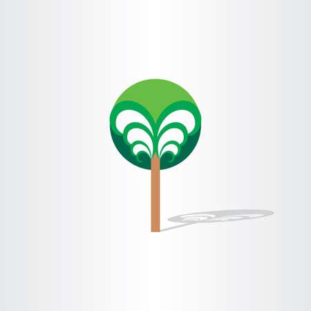 stylized design: albero di fantasia disegno stilizzato elemento