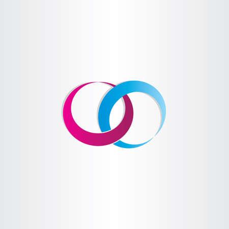 wedding rings love symbol design Ilustração