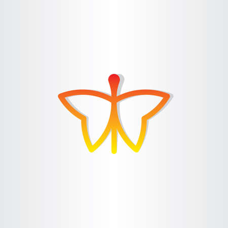 red butterfly: red butterfly icon design Illustration