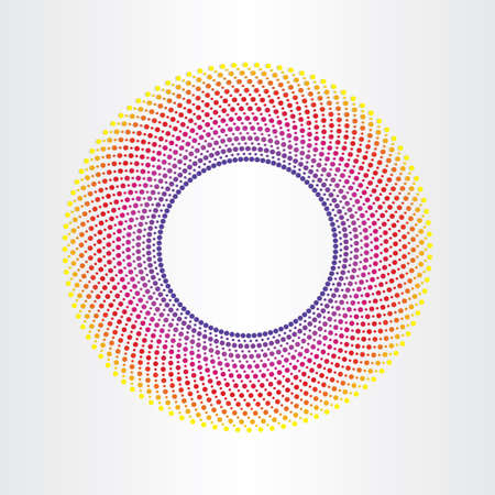 colorful abstract background with circle halftones
