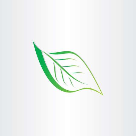 verde stilizzato foglia icona elemento di design