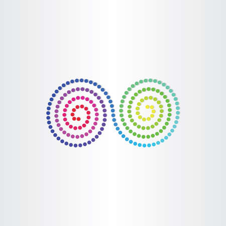 color spectrum: infinity color spectrum spyral symbol design Illustration