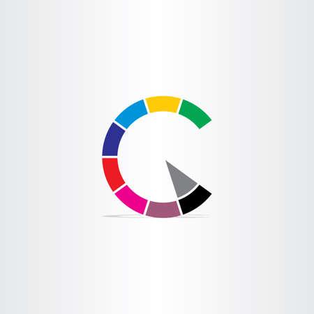 letter c color copyright symbol icon Ilustração