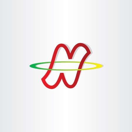 neutron: letter n neutron symbol design