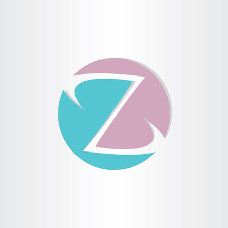 letter a z: letter z in circle icon Illustration