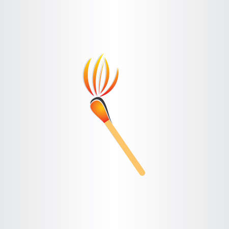 matches: matches burning or fire torch symbol design