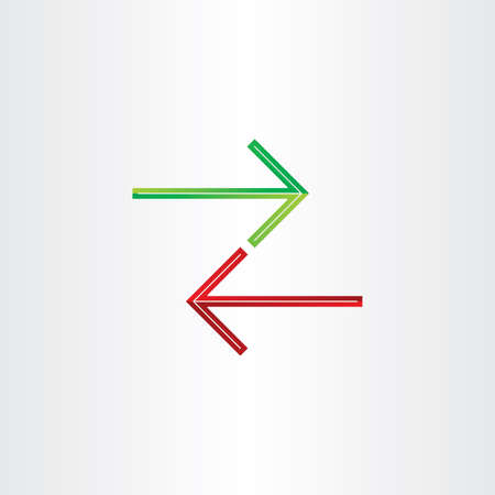 two arrows: two arrows direction symbol design Illustration