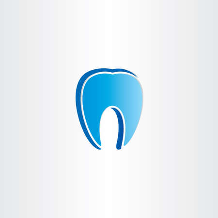 abstract tooth: abstract tooth dentist symbol design