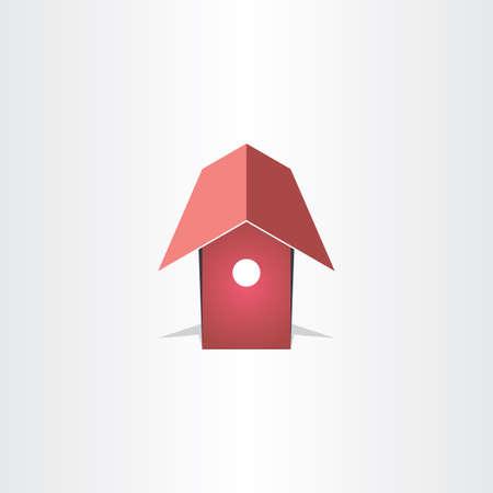 maison oiseau: maison d'oiseau conception de symbole vecteur