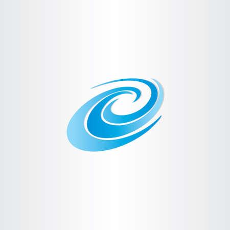 stream of water: blue water wave vector design element