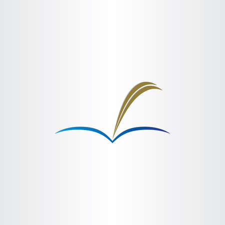 book and feather pen symbol design photo