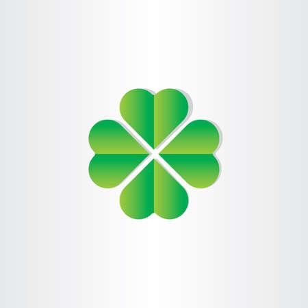 green clover luck st patrick symbol design photo