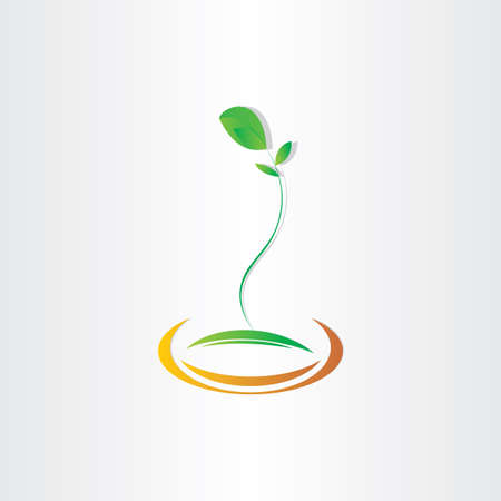 germinate: plant seed germination vector icon design Stock Photo