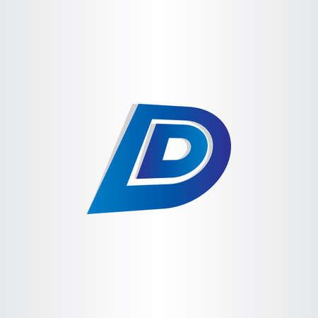 d: blue letter d vector icon design